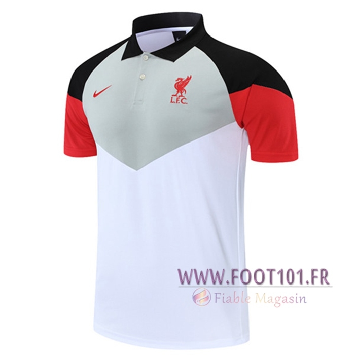 Polo Foot FC Liverpool Blanc/Grise 2021/2022