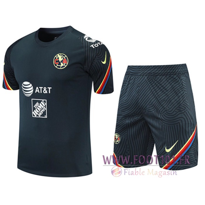 Ensemble Training T-Shirts Club America + Shorts Noir 2021/2022