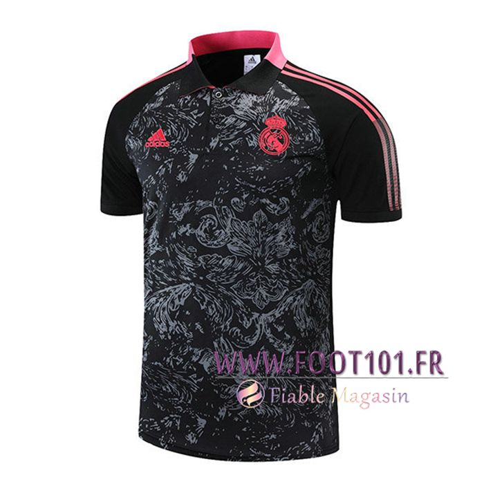 Polo Foot Real Madrid Rouge/Noir 2021/2022