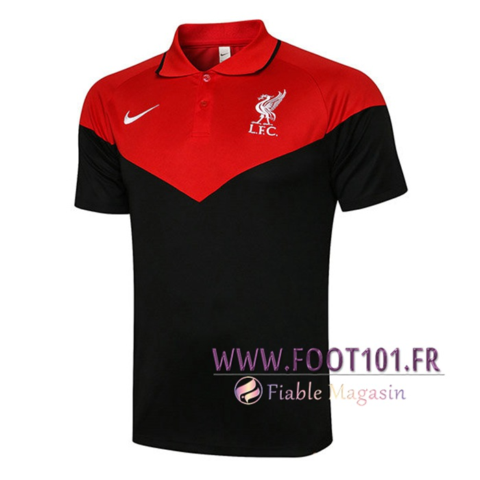 Polo Foot FC Liverpool Noir/Rouge 2021/2022