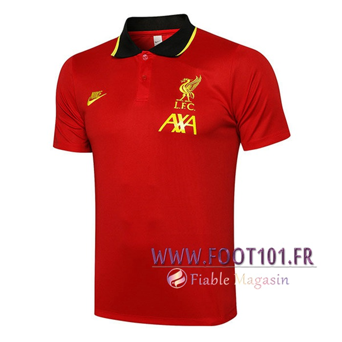 Polo Foot FC Liverpool Rouge/Noir 2021/2022