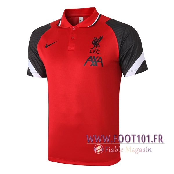 Polo Foot FC Liverpool Rouge/Noir 2020/2021