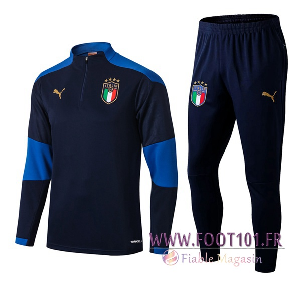 Ensemble Survetement de Foot Italie Bleu Marin 2020/2021
