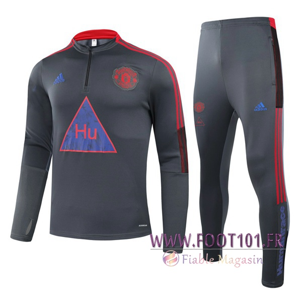 Ensemble Survetement de Foot Manchester United Joint Edition Enfant Gris 2020/2021