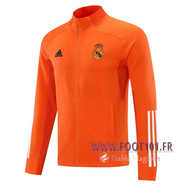 Nouveau Veste Foot Real Madrid Orange 2020/2021