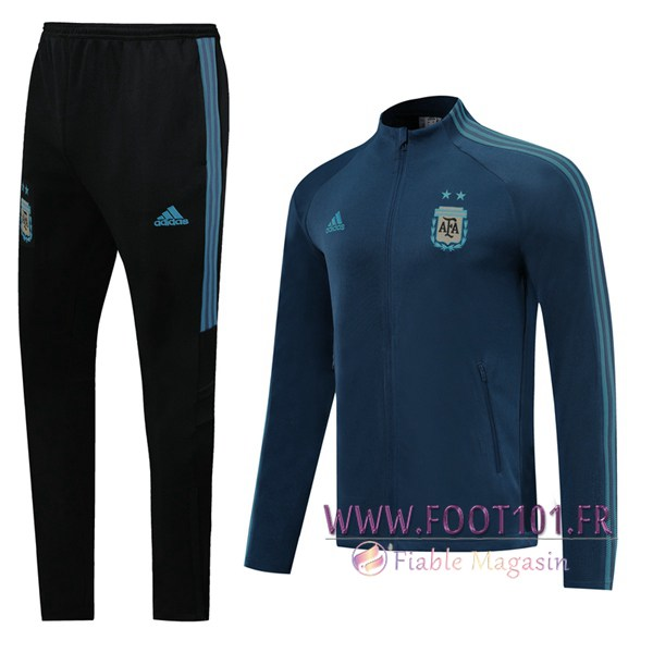Ensemble Survetement Foot - Veste Equipe de Argentine Bleu Royal 2020/2021