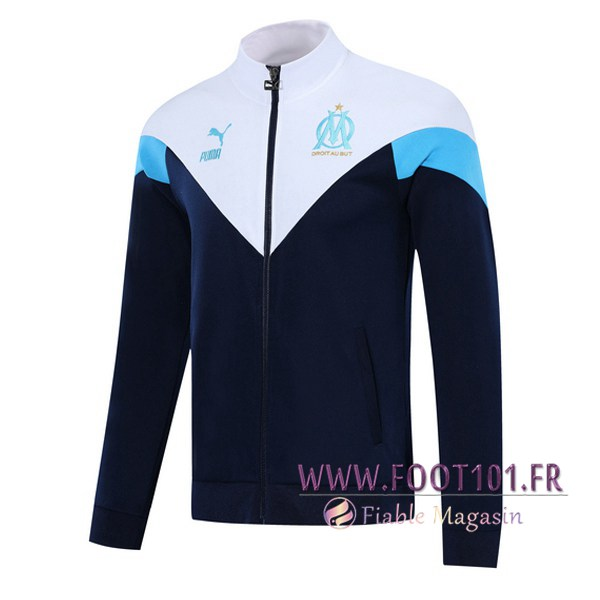 Veste Foot Marseille OM Bleu Royal Blanc 2019/2020