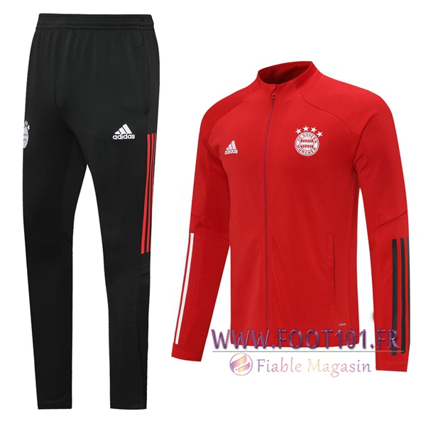 Ensemble Survetement de Foot - Veste Bayern Munich Rouge 2020/2021