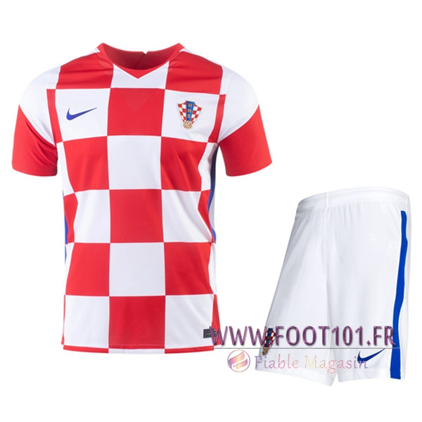 Ensemble Maillot Croatie Domicile + Short UEFA Euro 2020