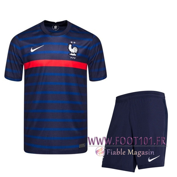 Ensemble Maillot France Domicile + Short UEFA Euro 2020