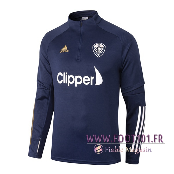 Training Sweatshirt Leeds United Bleu Royal 2020/2021