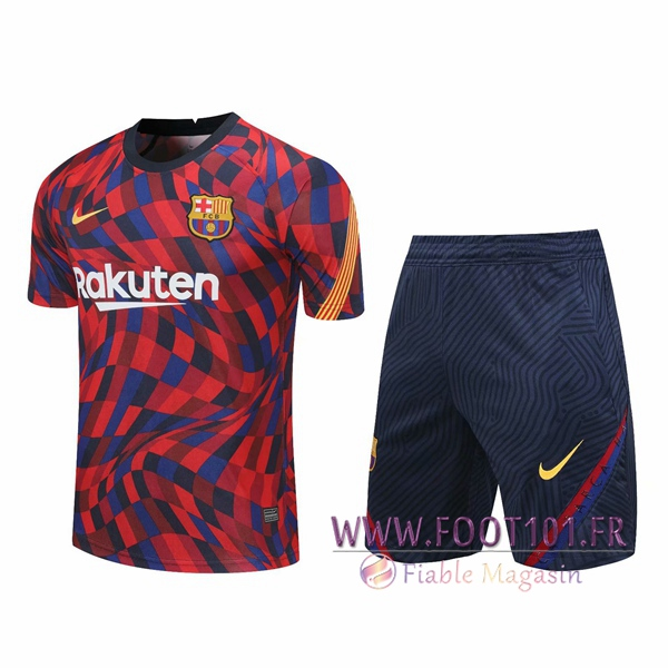 Training T-Shirts FC Barcelone + Shorts Rouge 2020/2021
