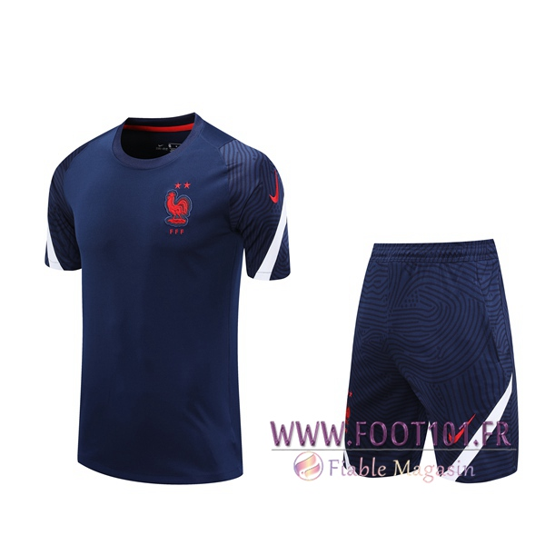 Training T-Shirts France + Shorts Bleu Royal 2020/2021