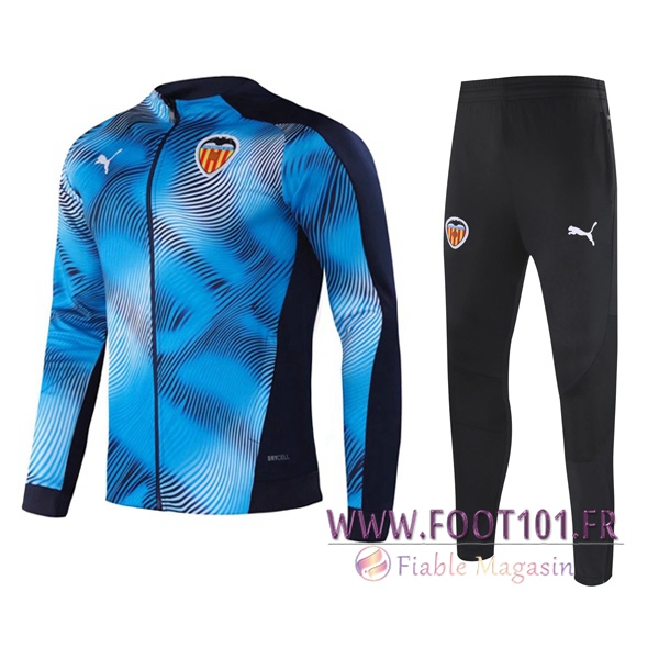 Ensemble Survetement de Foot - Veste Valencia CF Bleu 2020/2021