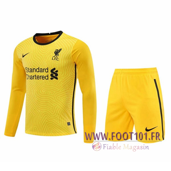 Ensemble Maillot FC Liverpool Gardien de But Jaune 2020/2021