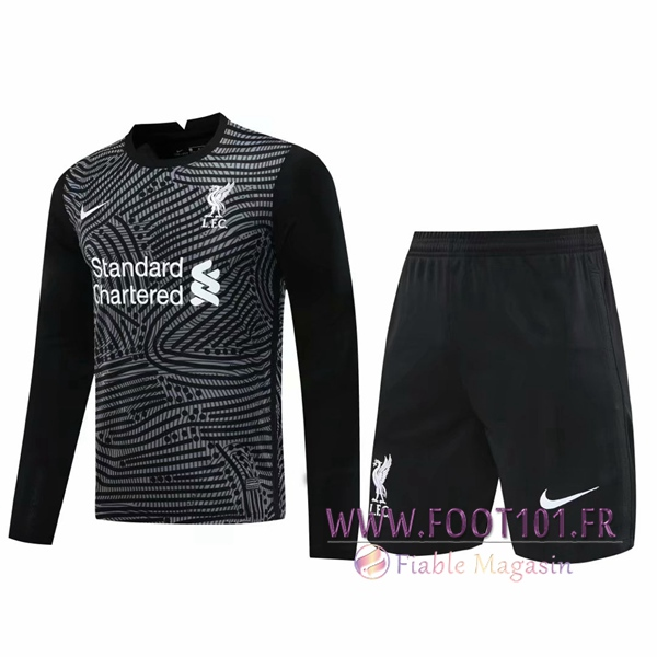 Ensemble Maillot FC Liverpool Gardien de But Noir 2020/2021