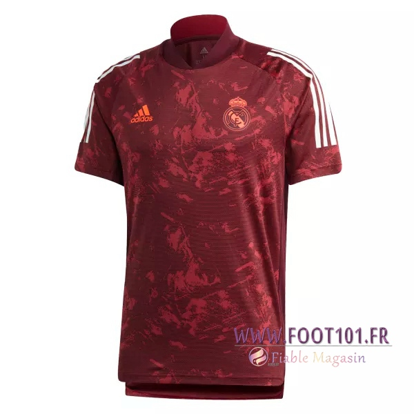 Training T-Shirts Real Madrid Rouge 2020/2021