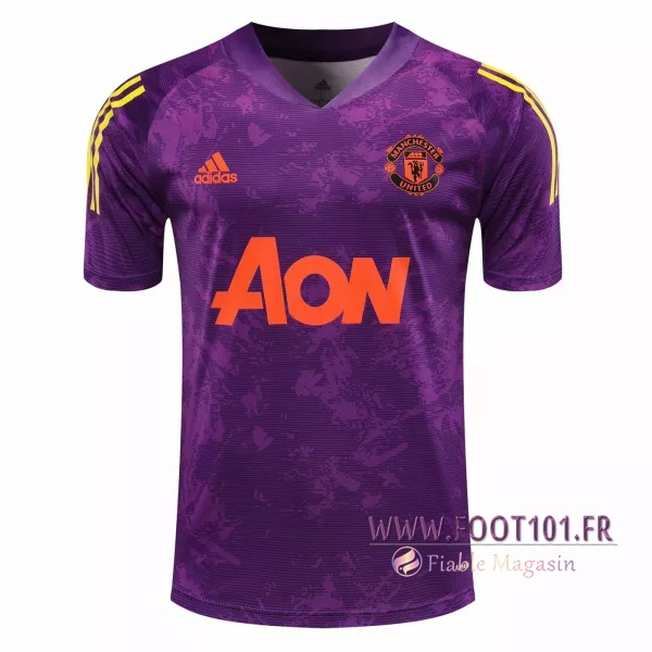 Training T-Shirts Manchester United Pourpre 2020/2021