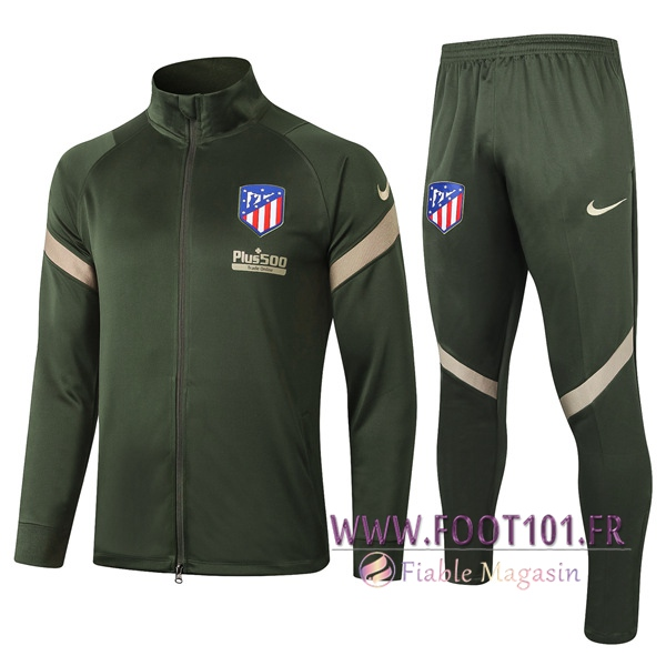 Ensemble Survetement de Foot - Veste Atletico Madrid Vert 2020/2021