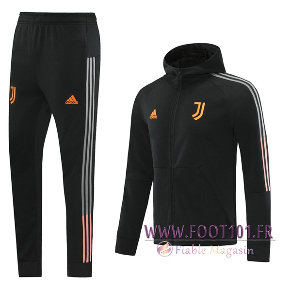 Ensemble Survetement de Foot - Veste Juventus Noir 2020/2021