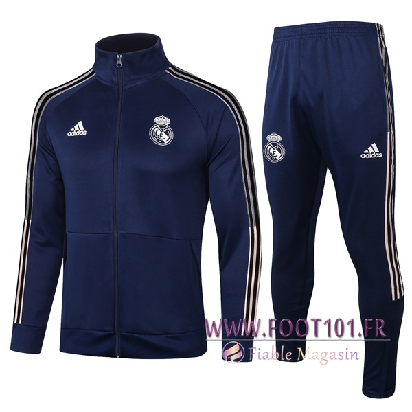 Ensemble Survetement de Foot - Veste Real Madrid Bleu Marin 2020/2021