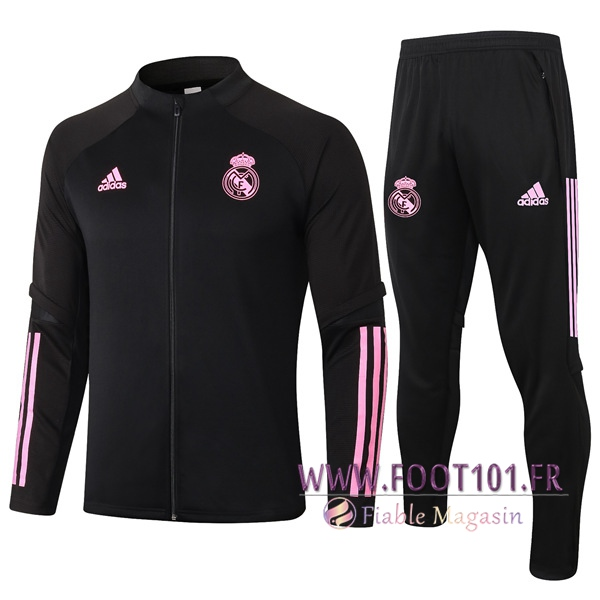Ensemble Survetement de Foot - Veste Real Madrid Noir 2020/2021