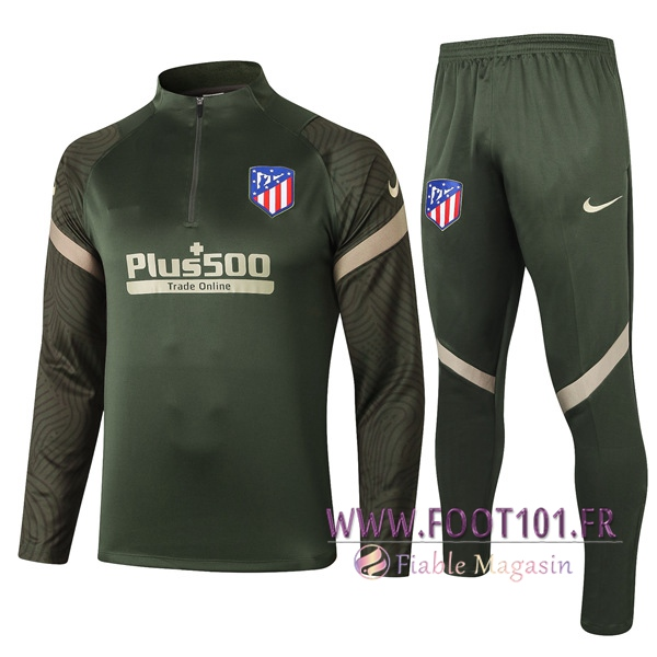Ensemble Survetement de Foot Atletico Madrid Vert 2020/2021