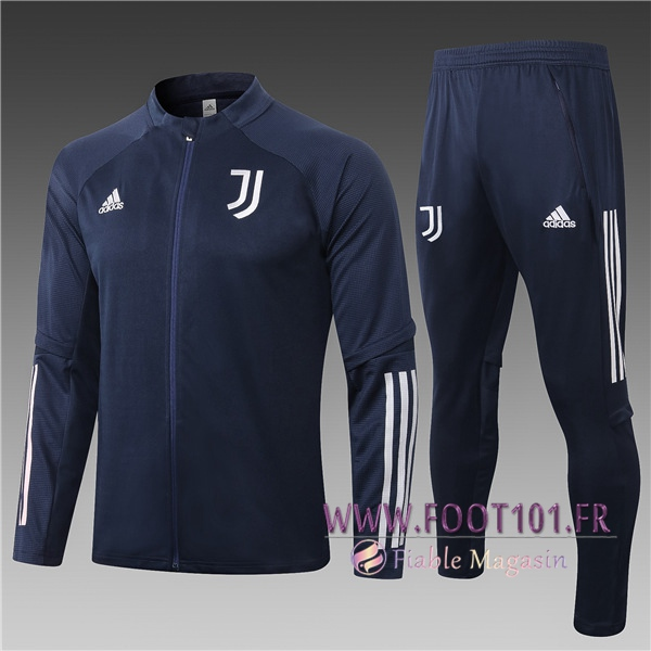 Ensemble Survetement Foot - Veste Juventus Enfant Bleu Marin 2020/2021