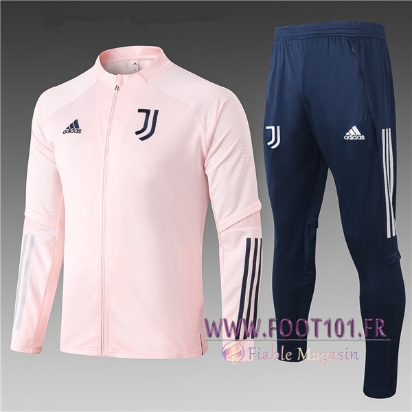 Ensemble Survetement Foot - Veste Juventus Enfant Rose 2020/2021
