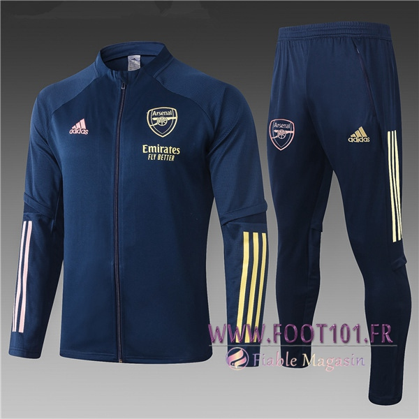 Ensemble Survetement Foot - Veste Arsenal Enfant Bleu Marin 2020/2021