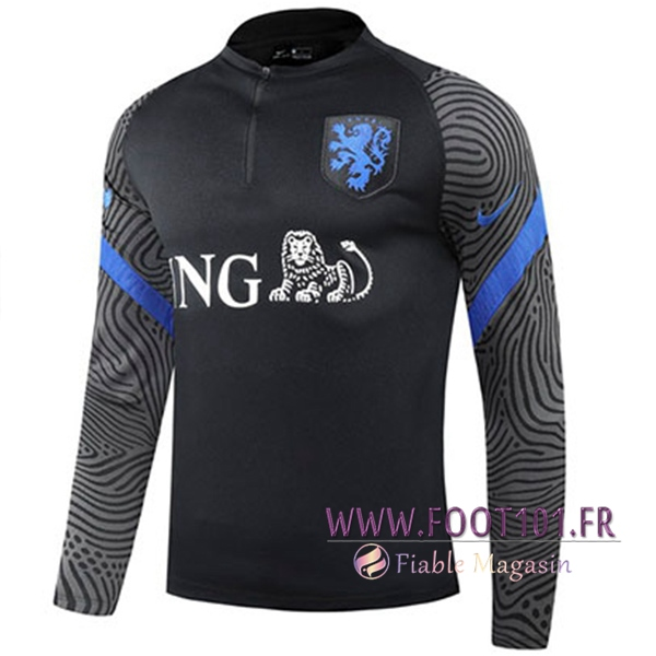 Training Sweatshirt Pays-Bas Noir 2020/2021