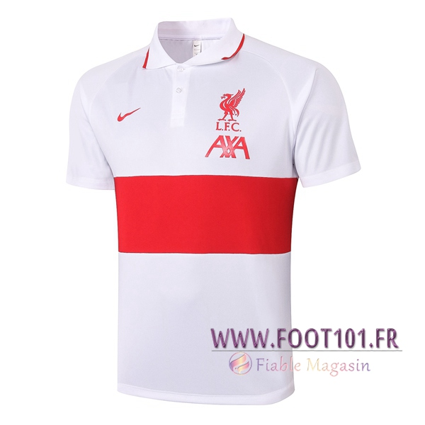 Polo Foot FC Liverpool Blanc/Rouge 2020/2021