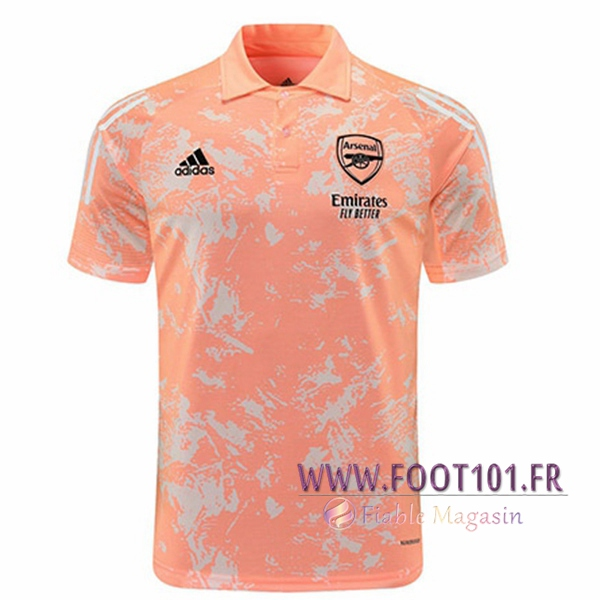 Polo Foot Arsenal Rose/Blanc 2020/2021