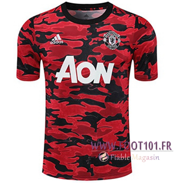 Training T-Shirts Manchester United Noir/Rouge 2020/2021