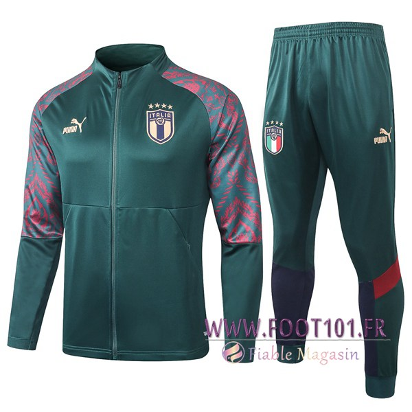 Ensemble Survetement Foot - Veste Italie Vert 2020/2021