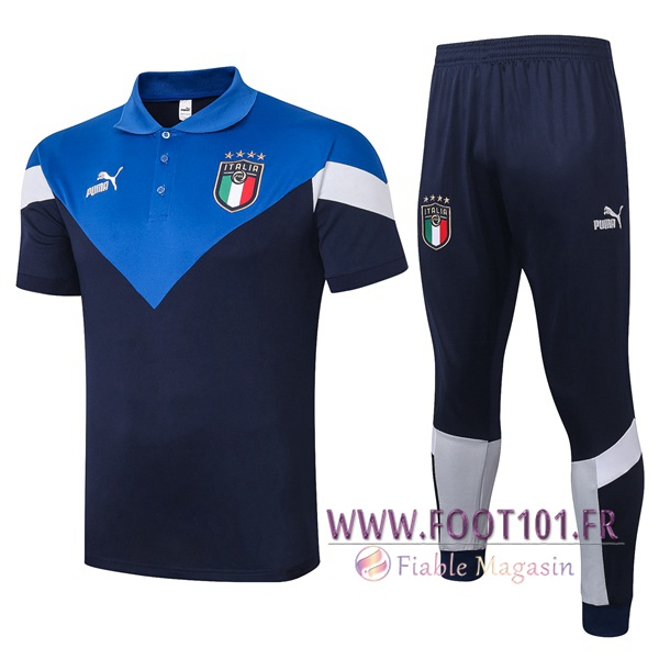 Ensemble Polo Italie + Pantalon Bleu 2020/2021