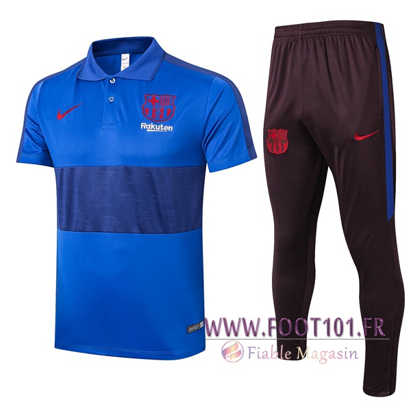 Ensemble Polo FC Barcelone + Pantalon Bleu 2020/2021