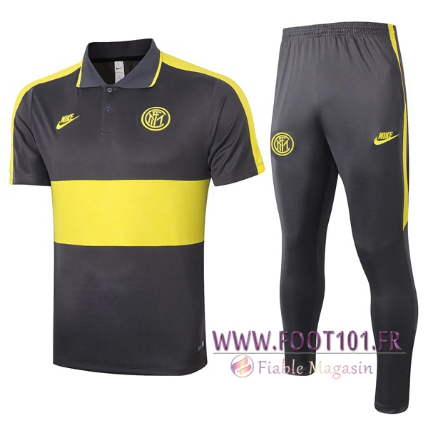 Ensemble Polo Inter Milan + Pantalon Jaune 2020/2021