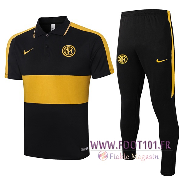 Ensemble Polo Inter Milan + Pantalon Noir Jaune 2020/2021