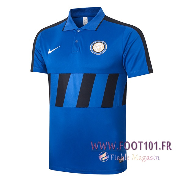 Polo Foot Inter Milan Bleu Noir 2020/2021