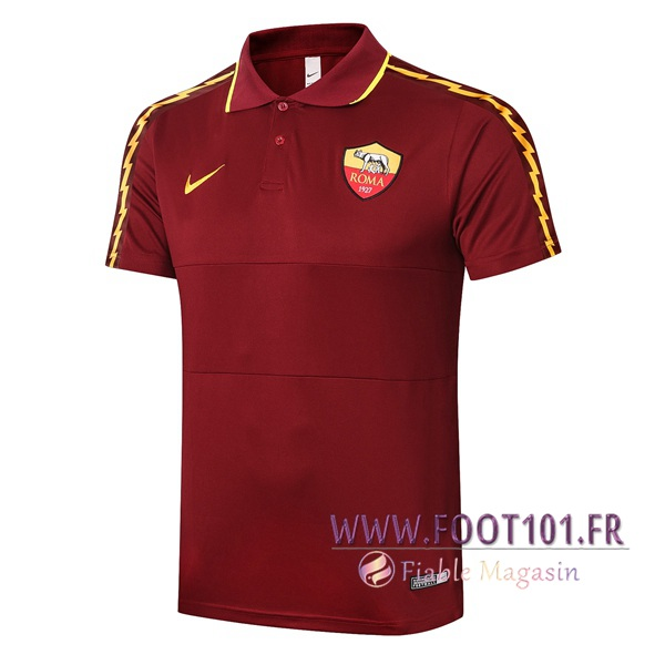 Polo Foot AS Roma Rouge Fonce 2020/2021