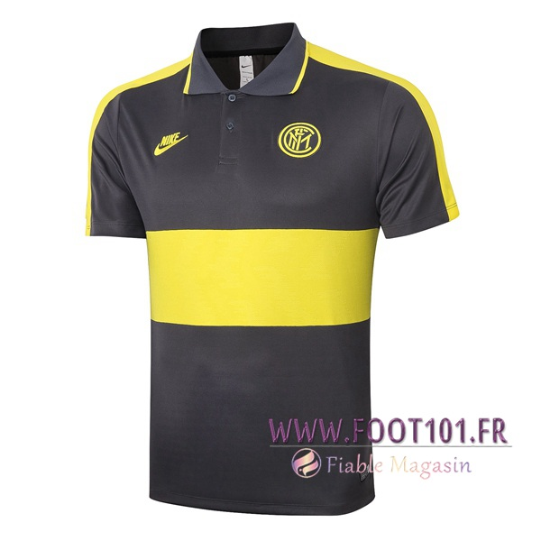 Polo Foot Inter Milan Jaune 2020/2021
