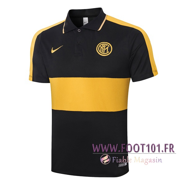 Polo Foot Inter Milan Noir Jaune 2020/2021