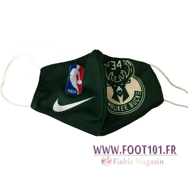 Milwaukee Bucks KN95 FFP2 Masques Reutilisable