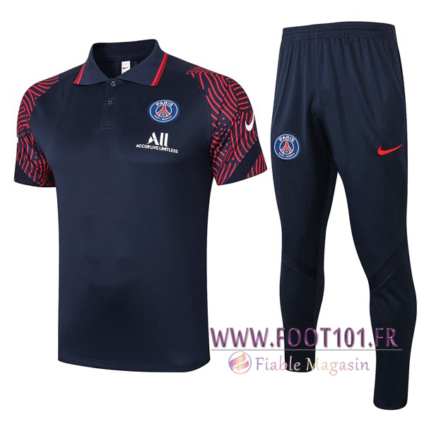 Ensemble Polo Paris PSG + Pantalon Bleu Royal 2020/2021