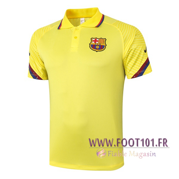 Polo Foot FC Barcelone Jaune 2020/2021