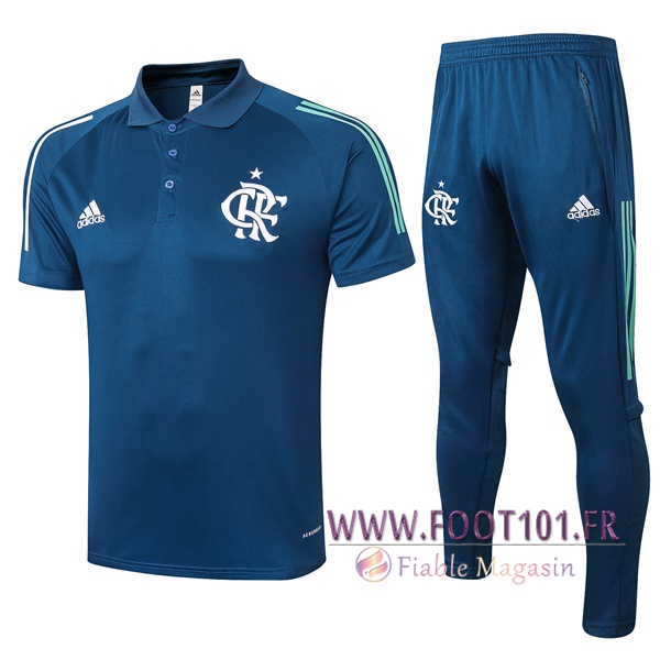 Ensemble Polo Flamengo + Pantalon Bleu Royal 2020/2021