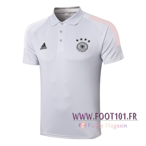 Polo Foot Allemagne Gris Clair 2020/2021