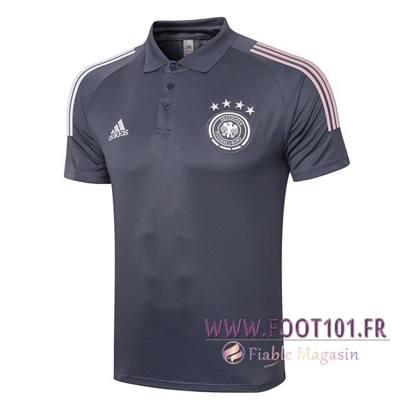 Polo Foot Allemagne Gris Fonce 2020/2021