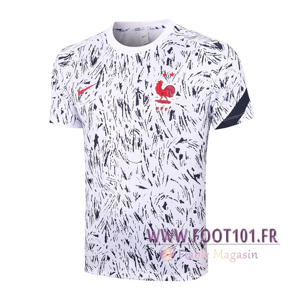 Training T-Shirts France Noir Blanc 2020/2021